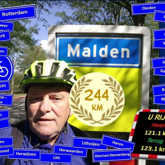 De Uitdaging een fietstocht van Rotterdam naar Malden